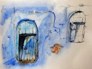 stage aquarelle Chefchaouen